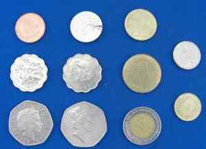 Lot of 11 Assorted World Coins