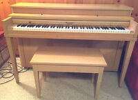 Vintage Williams New Scale Piano and Matching Bench