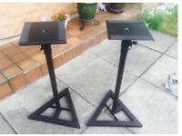 Speaker stands pair adjustable