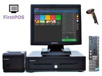 Full Touchscreen Retail/Hospitality EPOS POS Cash Register Till System (Dell Optiplex)