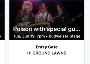 2 tix to poison and cheap trick Tuesday June 19 Toronto $50 both