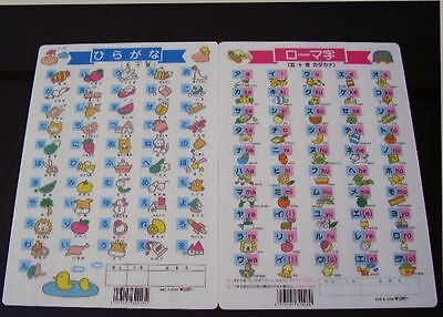 Japanese language Hiragana Katakana chart sheets NEW