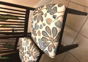 Wayfair side table and design fabric for chairs, otomans etc.,