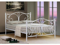 *NEW* Stunning Crystal 4ft6 Double Bed and Mattress - £79