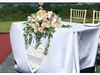 Wedding Flowers large top table display
