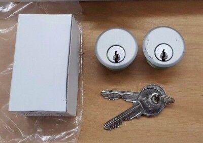 Pair of Y1 Mortise Lock Key Cylinders for Adams Rite, Kawneer, Storefront Door