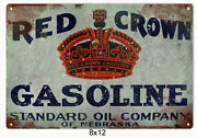Red Crown Gasoline Sign