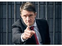 2 x Jonathan Pie tickets Newcastle City Hall FRONT ROW of stalls £20 for the pair