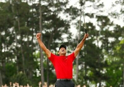 TIGER WOODS Poster G.O.A.T Goat Greatest All Time [24 x 36] Inch A
