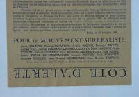 Raro Volantino Surrealista Cote D'alerte Breton Peret Dada Surrealism Futurismo -  - ebay.it