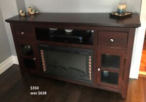 TV Stand Electric Fireplace (Indoor)