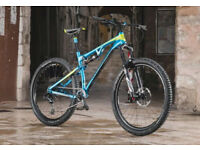 Full suspension 27.5 or 29er mountain bike, large frame