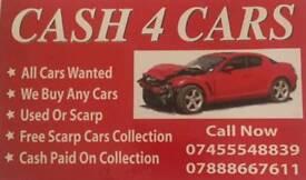 All cars wanted We buy any scrap cars or van