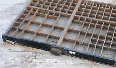 Setzkasten 50x44cm 30er Jahre alt Vintage shabby design Letterpress wooden tray