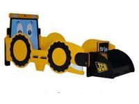 Digger JCB toddler kids Bed and Mattress