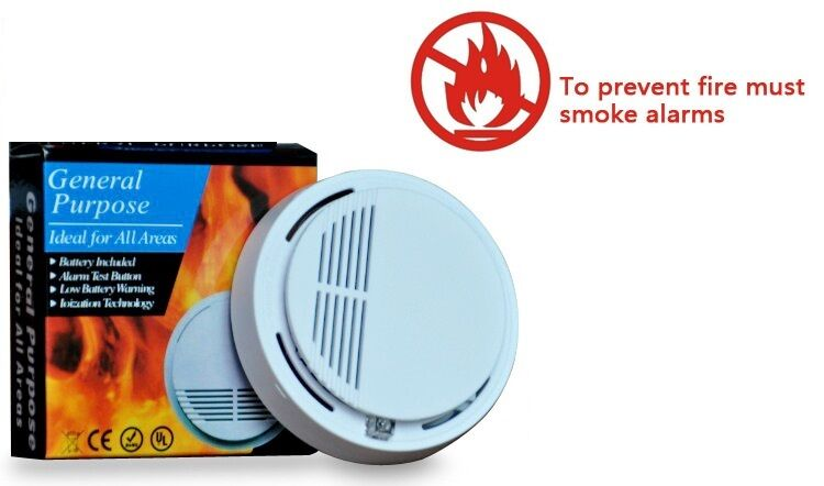 Wireless Smoke Detector Home Security Fire Alarm Sensor System Cordless