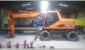 Wanted wheel excavator daewoo hitachi