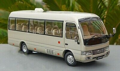 Toyota Coaster Bus Metal model Diecast Model Car 1:24 Scale Boy Gifts Gold