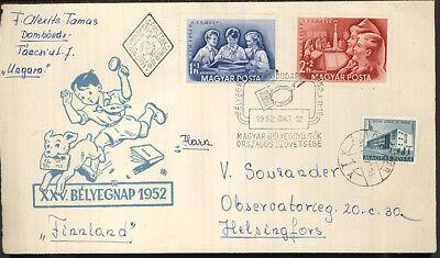 Ungarn Mi 1274-5 FDC nach Finnland