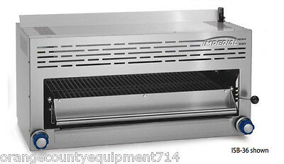 New 36 Gas Salamander Broiler Imperial Isb-36 Infrared 4577 Commercial Nsf Usa