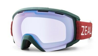 4578cee75fd NEW Zeal Slate Green Red Blue Mirror Mens OTG Ski Snowboard Goggles Msrp 130