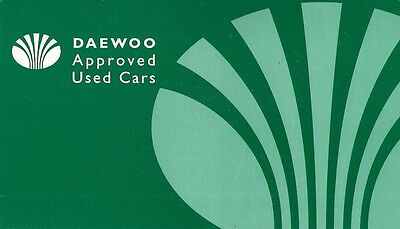 Daewoo Approved Used Cars 1998-99 UK Market Foldout Sales Brochure