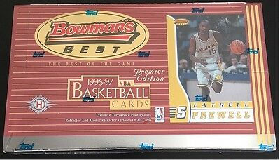 1996 97 Bowmans Best Factory Sealed Hobby Basketball Card Box Kobe Bryant Rc