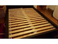 Bed Frame Double Sized - IKEA Black