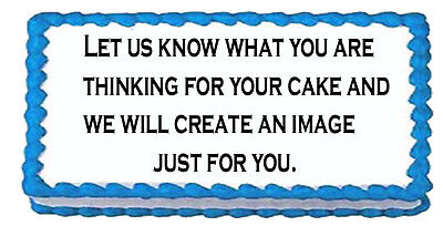 Personalized Cake Toppers (Your Custom Personalized edible cake cupcake cookie frosting sugar )