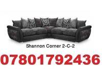 brand new large dfs Shannon corner sofa + delivery free reflex foam seat cushions