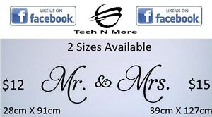 Big Mr. & Mrs. Wall Stickers (2 Options)