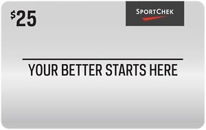 25$ SPORTCHECK gift card for 20$