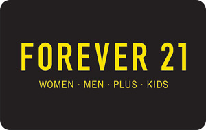 FOREVER 21 STORE GIFT CARD, VALUE $15.82