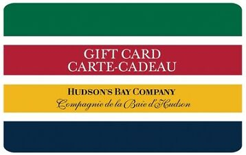 $100 Hudson's Bay Company Gift Card