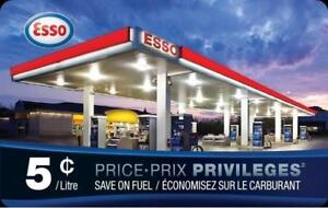 $25 Gas Cards with Esso - only $15 each!