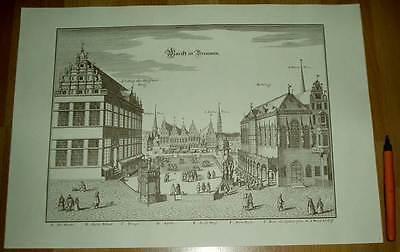 Bremen alte Ansicht Merian Druck Stich 1650 (schw)