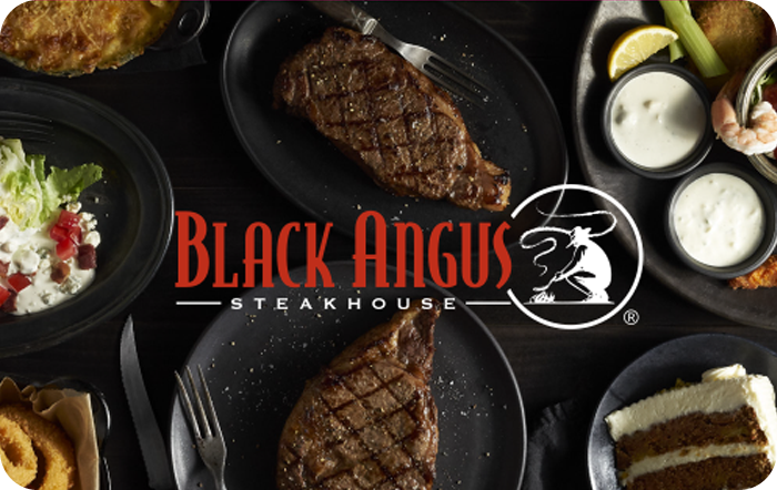 Black Angus Steakhouse - 25 50 Or 100 - Email Delivery - $25.00