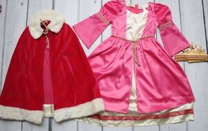 Pottery Barn Kids Medieval Princess Costume with Crown Sz4-6