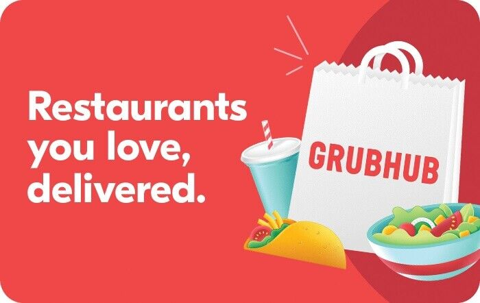 Grubhub Gift Card - 25 50 100 - Email Delivery  - $25.00