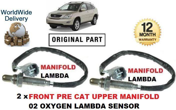 FOR LEXUS RX300 3.0 2000-2003 2x FRONT PRE CAT MANIFOLD 02 OXYGEN LAMBDA SENSOR
