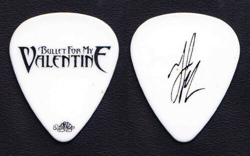Bullet For My Valentine Jason James Signature White Guitar Pick - 2010 Tour