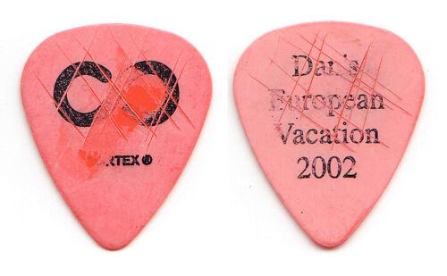 Hoobastank Dan Estrin Signature Concert-Used Orange Guitar Pick - 2002 Tour