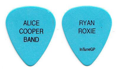Alice Cooper Ryan Roxie Light Blue Guitar Pick - 2016 Tour