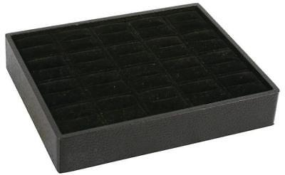 Stackable 20 Ring Tray Black Black Jewelry Store Pawn Shop Display