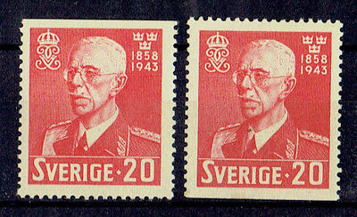 Schweden ** MiNr 297Do+Du König Gustav V