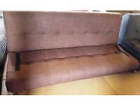 Sicily Fabric Clic Clac Sofa Bed-Chocolate