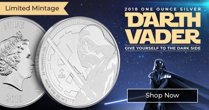 2018 Niue 1 oz .999 Fine Silver Darth Vader Coin - Star Wars Bullion Series - BU