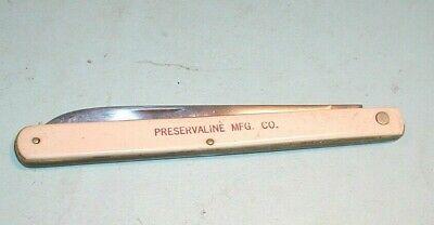 """Vintage """" Preservaline Mfg. Co."""" Ulster US5 Single Blade Long Folding Knife"""