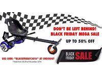 * Black Friday Offer * PRO- HoverKart Swegway HoverGoKart- SUITABLE FOR ALL HOVERBOARDS