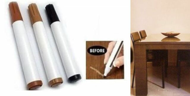 Light Dark Medium Brown Furniture & Wood Scratch Repair Permanent Marker Pens